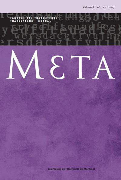 Meta : journal des traducteurs / Meta: Translators' Journal